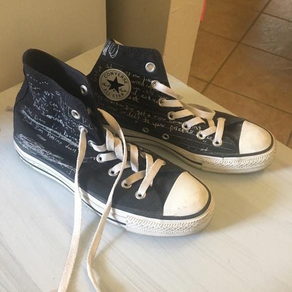 f14c5d3cde6e Converse Shoes - Limited Edition Nirvana lyrics Chuck Taylor s